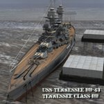 Click to see information about the 'USS Tennessee BB-43 (for Poser)'.