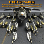 F8E Crusader (for Poser)