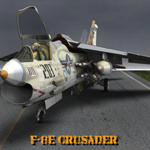 Click to see information about the 'F8E Crusader (for Poser)'.