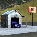 Gas N Git Station (for Poser)