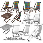 Patio Furniture (for Wavefront obj)