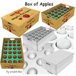 Box of Apples (for Wavefront obj)