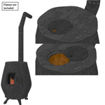 Cook Stove (for Wavefront obj)