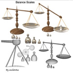 Balance Scales (for Wavefront obj)