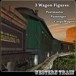 Click to see information about the 'Western Train Wagon Pack (for Poser)'.