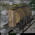 Click to see information about the 'Barrel Wagon (for Poser)'.