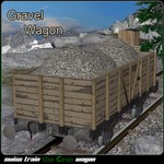 Click to see information about the 'Gravel Wagon (for Poser)'.
