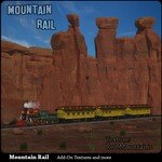 Click to see information about the 'Mountain Rail: Red Mountains (for Poser)'.
