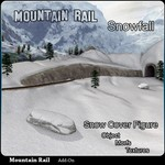 Click to see information about the 'Mountain Rail: Snowfall Scenery (for Poser)'.