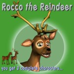 Click to see information about the 'Rocco the Reindeer (for Poser)'.
